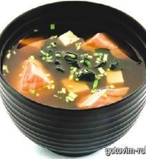 Мисо суп рецепт с лососем рецепт